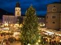 Eröffnung des Salzburger Christkindlmarktes 2014 Foto: Neumayr/MMV 19.11.2015 Der Christbaum am Residenzplatz