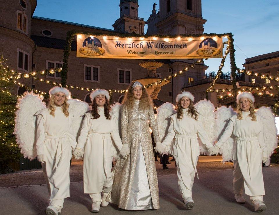 Original Salzburger Christkind mit seinen 4 Engeln 2018