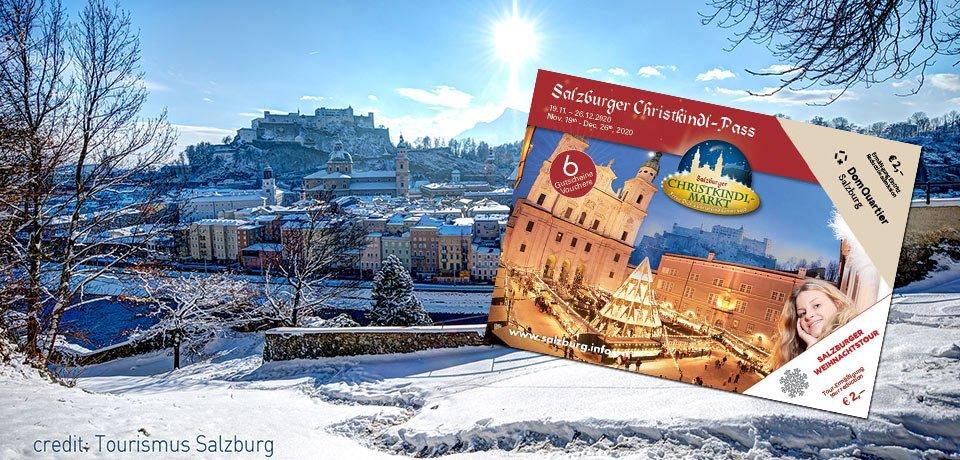 Salzburger Christkindl-Pass für den Salzburger Christkindlmarkt am Dom- und Residenzplatz
